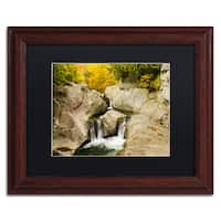 Michael Blanchette Photography 'Fall at the Falls' Matted Framed Art