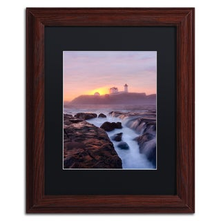 Michael Blanchette Photography 'Lighthouse On Fire' Matted Framed Art