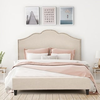 Ariel Upholstery Platform Bed (2 options available)
