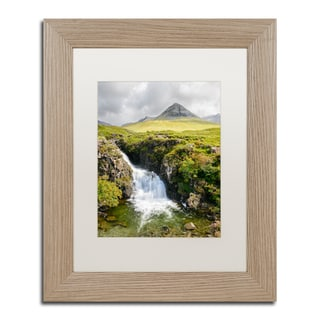 Michael Blanchette Photography 'Waterfall' Matted Framed Art