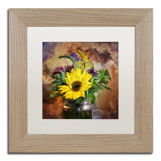 Lois Bryan 'A Jar of Wildflowers' Matted Framed Art