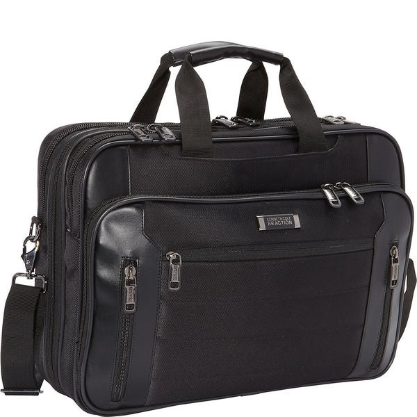 Kenneth Cole Reaction Keystone Top Zip TSA Checkpoint Friendly Multi-Pocket 17.3-inch Laptop Business Case - Black