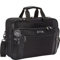 Kenneth Cole Reaction Black Top Zip 17.3-inch Checkpoint Friendly Multi-pocket Laptop Case