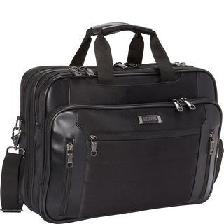 Kenneth Cole Reaction Black Top Zip 16.75-inch Checkpoint Friendly Multi-pocket Laptop Case