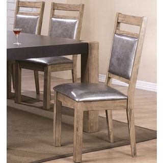 Modern Rustic Concrete Design Dining Dining Chairs (Set of 2)