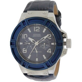 Guess Rigor Leather Men's Watch W0040G7