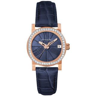 Wittnauer Leather Ladies' Watch WN2000 (Blue/Rose-Gold)