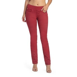 Bluberry Women's Ruby Red Straight Leg Denim|https://ak1.ostkcdn.com/images/products/14446706/P21010494.jpg?impolicy=medium