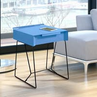 Palm Canyon Mid-century Modern 1-drawer Side Table