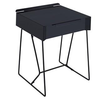 The Gray Barn Elsinora Mid-Century Modern 1-drawer Side Table (Option: Black)