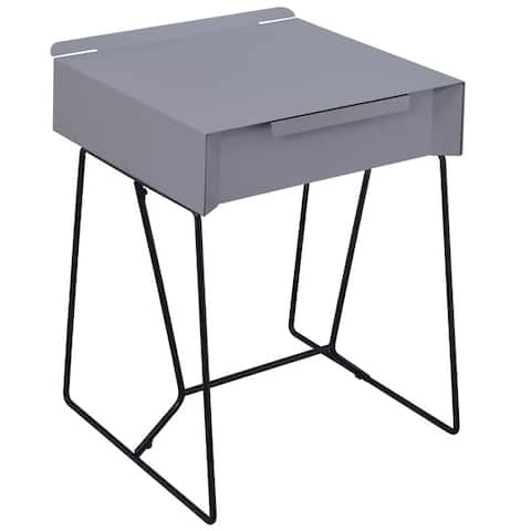 Furniture of America Omer Modern Metal 1-drawer Side Table