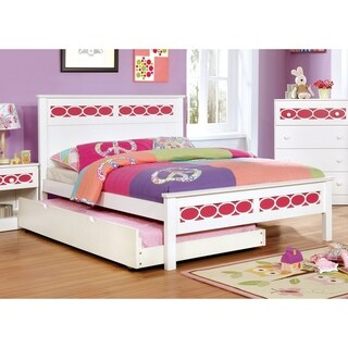 Furniture of America Noon Contemporary Full Solid Wood Panel Bed