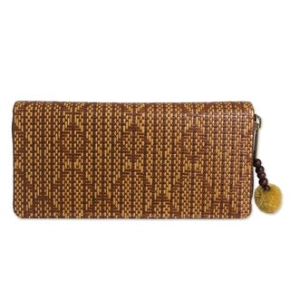 Handcrafted Paper Cord 'Fishtail' Multi Pocket Wallet (Thailand)