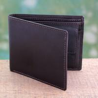 Men's Handmade Leather 'Executive Brown' Wallet (India)
