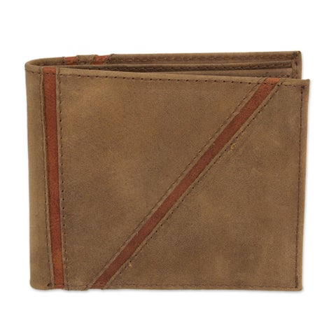 Handmade Men's Leather 'Minimalist in Brown' Wallet (Mexico)