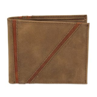 Handcrafted Men's Leather 'Minimalist in Brown' Wallet (Mexico)