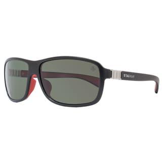 Tag Heuer Legend TH9302 Men's Matte Black/Red Frame Grey Lens Designer Sunglasses