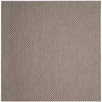 Safavieh Indoor/ Outdoor Courtyard Light Brown/ Light Grey Rug - 7' Square