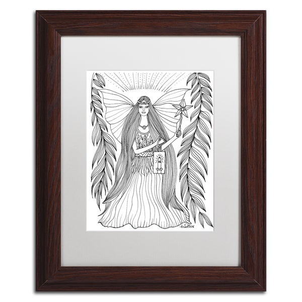 KCDoodleArt 'Fairy 15' Matted Framed Art - Black/White