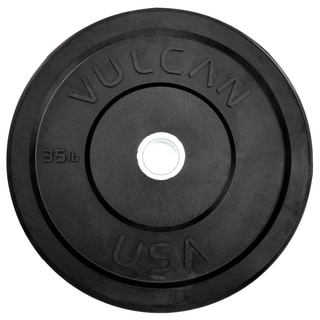 35 lb Black Bumper Plate Pair