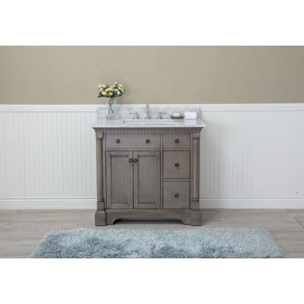 Shop Stella Inch Double Bathroom Vanity Set Antique Grey On - Antique grey bathroom vanity