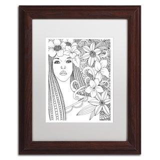 KCDoodleArt 'Flower Girls 5' Matted Framed Art