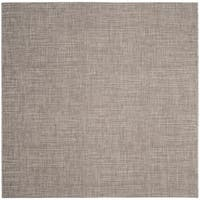 Safavieh Indoor/ Outdoor Courtyard Light Brown Rug - 7' Square