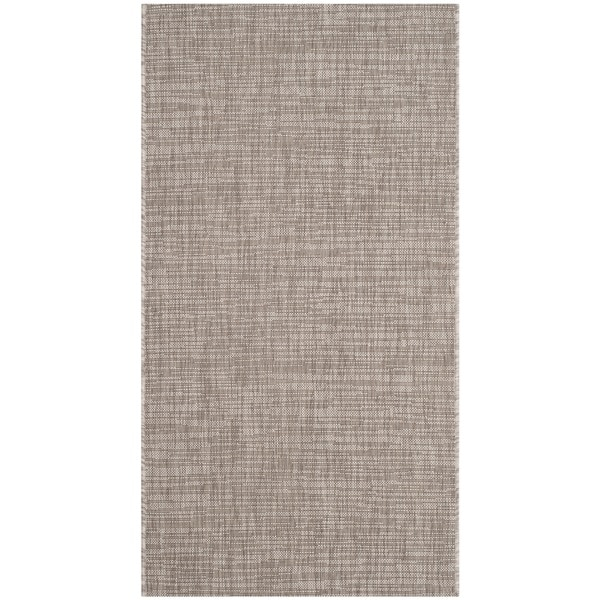 Safavieh Indoor/ Outdoor Courtyard Light Brown Rug - 2' x 4'