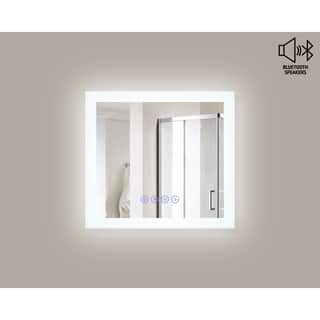 Encore BLU103 LED Illuminated Bathroom Mirror with Built-In Bluetooth Speaker|https://ak1.ostkcdn.com/images/products/14449033/P21012492.jpg?impolicy=medium