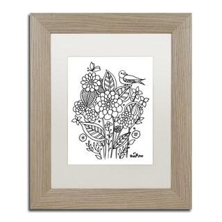 KCDoodleArt 'Flower Design 3' Matted Framed Art