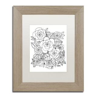 KCDoodleArt 'Flower Design 2' Matted Framed Art