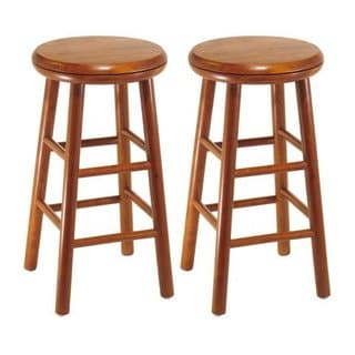 "Set of 2, Swivel Seat, 24"" Stool, Assembled"
