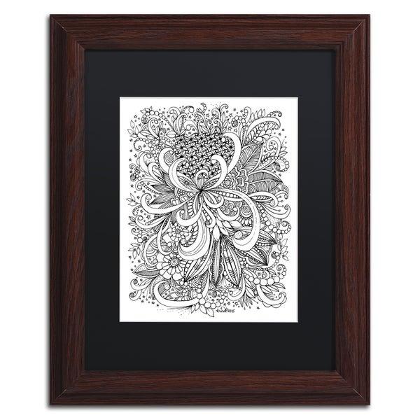 Shop KCDoodleArt \'Zendoodle 3\' Matted Framed Art - Free Shipping ...