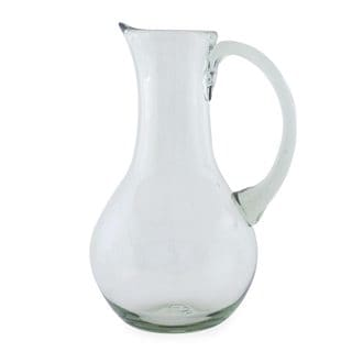 Blown Glass Pitcher, 'Clarity' (Mexico)