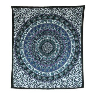 Cotton Wall Hanging, 'Beautiful Mandala' (India)