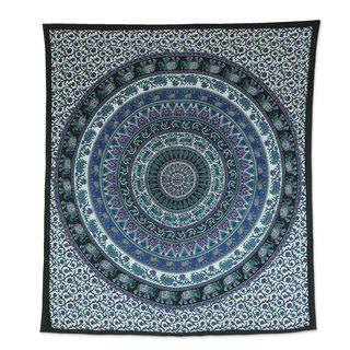 Handmade Cotton Wall Hanging, 'Beautiful Mandala' (India)