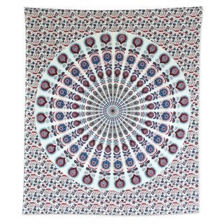 Cotton Wall Hanging, 'Mandala Bouquet' (India)