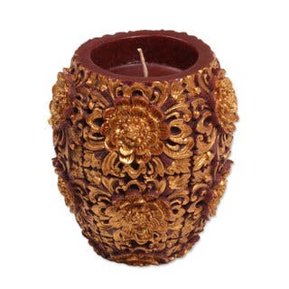 Handmade 4.5-inch Candle, 'Floral Vase' (Indonesia)|https://ak1.ostkcdn.com/images/products/14449248/P21012599.jpg?impolicy=medium