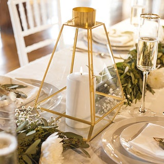 Personalized Gold Metal Lantern