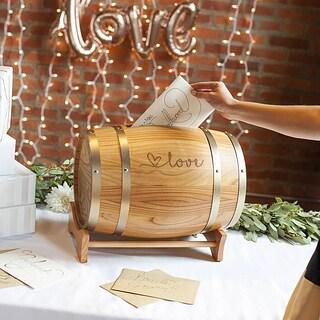 Love Wine Barrel Reception Gift Card Holder