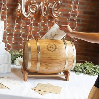 Personalized Wine Barrel Reception Gift Card Holder (More options available)