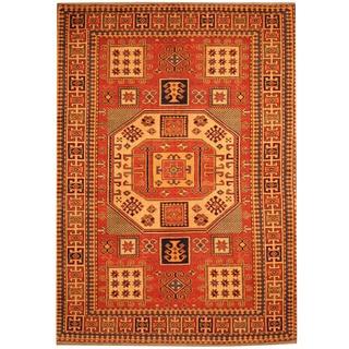 Herat Oriental Afghan Hand-knotted Vegetable Dye Tribal Shirvan Wool Rug (4'3 x 5'10)
