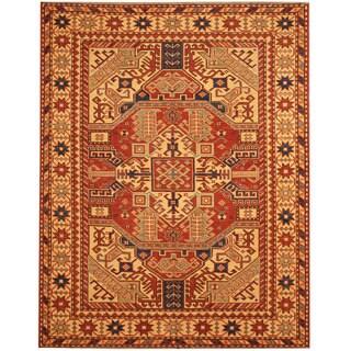 Herat Oriental Afghan Hand-knotted Vegetable Dye Tribal Shirvan Wool Rug (4'1 x 5'3)