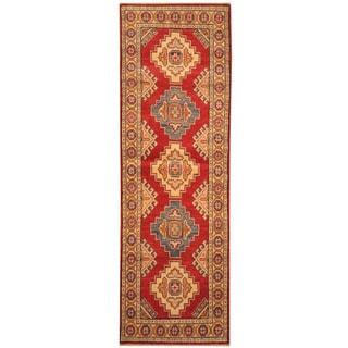 Herat Oriental Afghan Hand-knotted Vegetable Dye Tribal Kazak Wool Runner (2'1 x 6'7)