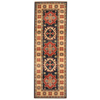 Herat Oriental Afghan Hand-knotted Vegetable Dye Tribal Kazak Wool Runner - 2' x 6'