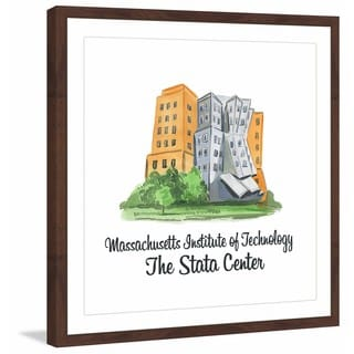 Marmont Hill - 'MIT - Stata Center' Framed Painting Print