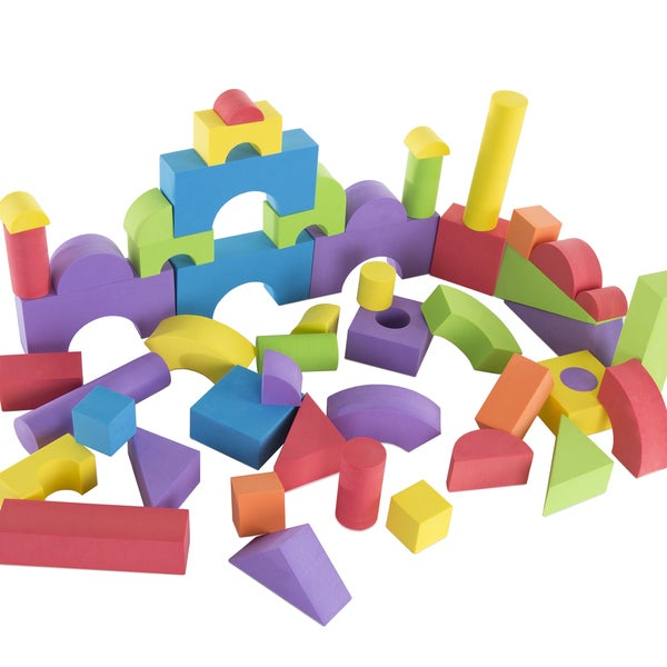 Kids Foam Building Blocks – Stacking Toys for Children Nontoxic EVA by Hey! Play!