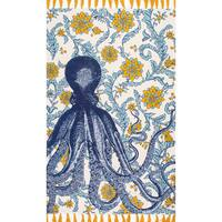 nuLOOM Handmade by Thomas Paul Cotton Printed Octopus Rug (6' x 9') - 6' x 9'