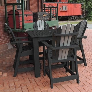 Hamilton Two-Tone 5pc Square Counter Height Dining Set