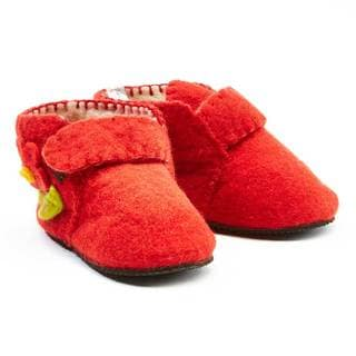 Handcrafted Felt Red Zooties Toddler Booties (Kyrgyzstan)